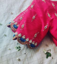 Pattu Saree Blouse Designs To Rock Your Desi Bridal Look Patch Work Blouse Designs, Maggam Work Designs, Hand Work Blouse Design, Simple Blouse Designs, Blouse Back Neck Designs, Stylish Blouse Design, Pattu Saree Blouse Designs, Maggam Works, Designer Blouse Patterns