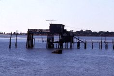 "The ""Thomas guest house"" at the end of a pier in Cedar Key, Florida - Photographed in December 1977"