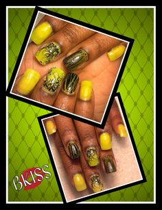 Simple yellow and black for that simple lady. Cute and classy.