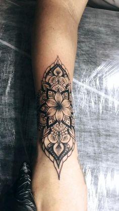 Arm Band Tattoo For Women, Mandala Tattoos For Women, Sleeve Tattoos For Women, Tattoo Sleeve Designs, Forearm Mandala Tattoo, Lotus Tattoo, Mandala Tattoo Sleeve, Floral Mandala Tattoo, Cuff Tattoo