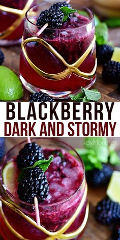 cocktails Prepare yourself for the weekend with a refreshing Blackberry Dark and Stormy. Light and fruity, and just boozy enough to make the perfect summer drink. Print the full recipe at Summer Cocktails, Cocktail Drinks, Fun Drinks, Yummy Drinks, Alcoholic Drinks, Vodka Cocktails, Beverages, Cocktail Ideas, Drinks With Rum
