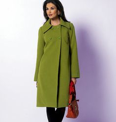 5823 Misses' Jacket and Coat - great angles from the color and the side closure