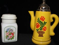 Hey, I found this really awesome Etsy listing at https://www.etsy.com/listing/241742080/avon-bottles-yellow-teapot-with-flowers