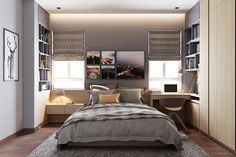 Small Bedroom Designs By Minimalist and Modest Decor Which Very Suitable To Apply In 2016 - RooHome | Designs & Plans