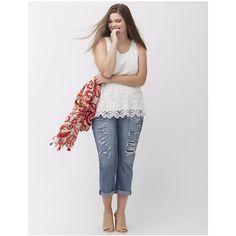 100e87fa38e Lane Bryant Plus Size Crochet front shell