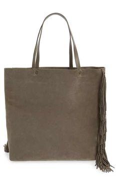 ALLSAINTS 'Club New Lea' Fringe Leather Tote