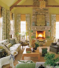 20 Cozy Fireplaces That Will Warm You All Winter  - HouseBeautiful.com