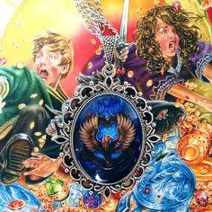 Ravenclaw House Crest Pendant Necklace 30x40 Harry by BelleRegalia