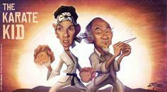 """Caricature de """"The Karate Kid"""" par Brice Mercier / Bubble Com."""