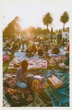 Hollywood Forever Cemetery... watch a movie outside on a picnic blanket in perfect weather without bugs.. next to the graves of some of Hollywoods most famous celebrities <3 Where else can you do this?