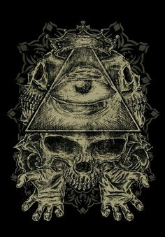 eye in the triangle all seeing eye proverbs All Seeing Eye Tattoo, Triangle Eye, Skull Tattoos, Gothic Art, Skull And Bones, Skull Art, Black Art, Concept Art, Tattoo Designs