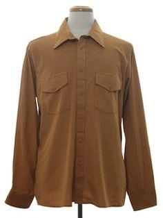 1970's Mens Western Style Sport Shirt