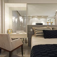 25 ways to make your master bedroom feel like a boutique hotel Bedroom Workspace, Shelves In Bedroom, Bedroom Decor, Built In Vanity, Master Bath Remodel, All I Ever Wanted, Home Decor Inspiration, Design Inspiration, Decor Ideas