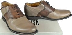 JD Fisk Men's Nikko Oxford Taupe Leather 8 5 M US GNC5 H489 | eBay