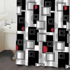 Black And White Box Geometric Curtains Design Ideas