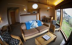 Quileute Oceanside Resort, La Push - oceanside cabins, some with jacuzzis, pets $10 each per night