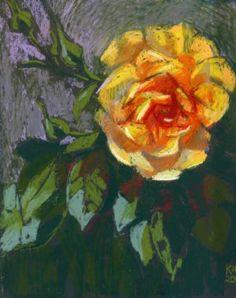 yellow rose drawing saatchiart источник