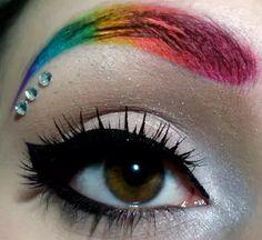 Rave makeup/ gay pride  makeup