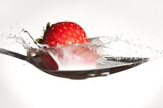 Strawberry Splashdown (293/365) by .Rob Webb(mostly awol)