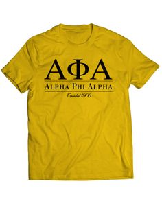 The Alpha Collegiate Tee features a simple design that resemble any University or Alma Mater. Great shirt to wear on the yard! - 6.0 oz. - 100% cotton preshrunk jersey knit (some colors contain polyes