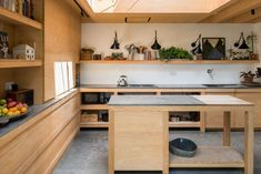 Home Interior Colors Kitchen of the Week: A London Architect& Sky-Lit Compact Kitchen - Remodelista Kitchen Fan, Mini Kitchen, Kitchen Ideas, Kitchen Shelves, Kitchen Inspiration, Kitchen Design, Design Inspiration, Plywood Cabinets, Victorian Fireplace