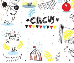 Dress up the Circus fabric by weegallery on Spoonflower - custom fabric