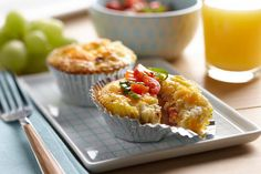 "A cross between a muffin and a crustless quiche, these are tasty protein fuel made with AE Cottage Cheese. Perfect for a ""Grab and Go"" breakfast or sit down brunch."