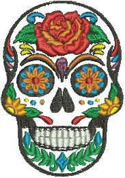 Hey, I found this really awesome Etsy listing at https://www.etsy.com/listing/224557073/sugar-skull-embroidery-design