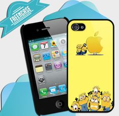 Minion Apple  design iPhone case for iphone 4 by FreenCase on Etsy, $15.55