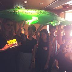 @Jocelyn Liipfert & the @TBWADAN_HK team taking cover under Dundee the croc
