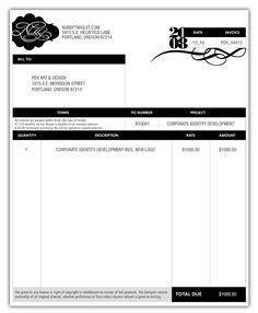Great Invoice Design Template