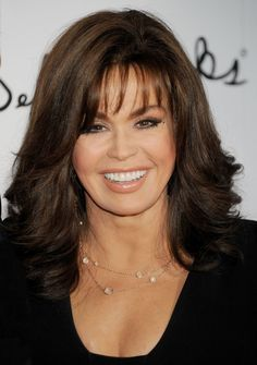 The controversy surrounding Marie Osmond plastic surgery Ponytail Hairstyles, Hairstyles With Bangs, Cool Hairstyles, Hairdos, Marie Osmond Plastic Surgery, Before And After Haircut, Blunt Hair, Medium Hair Styles, Long Hair Styles