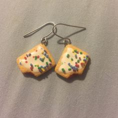 PopTart earrings❤️ PopTart shaped earrings-no backs included. Selling for $5 Jewelry Earrings