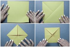 origami envelope box tutorial - Chrissy Pk