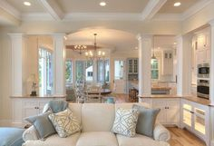 "Open floor plan. Paint Color: ""Sherwin Williams - Antique white"""