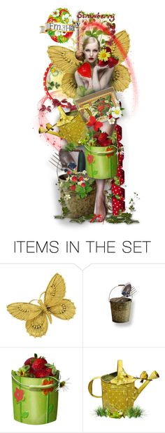 """Strawberry Fairie"" by fm3happy ❤ liked on Polyvore featuring art"