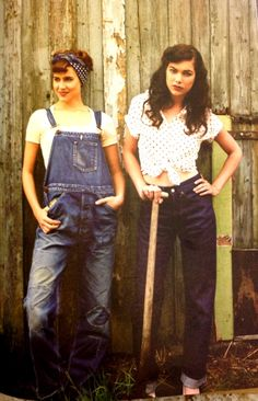 I love the jeans on the right, and also the idea of overalls, but the execution always seems to be just a bit off.