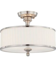 Buy the Nuvo Lighting Brushed Nickel Direct. Shop for the Nuvo Lighting Brushed Nickel Candice 3 Light Semi-Flush Indoor Ceiling Fixture - 15 Inches Wide and save. Semi Flush Lighting, Semi Flush Ceiling Lights, Flush Mount Ceiling, Ceiling Light Fixtures, Bedroom Lighting, Foyer Lighting, Ceiling Lighting, Kitchen Lighting, Ceiling Fans