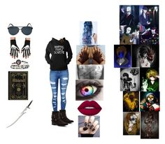 """""""creepypasta"""" by melissa-van-delft ❤ liked on Polyvore featuring WithChic, Penny Loves Kenny, Quay, Lime Crime and Nook"""