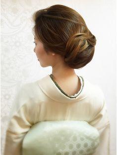 ヘアセットサロン イリス(IRIS) ★IRIS★大人きれい着物スタイル Bun Hairstyles, Wedding Hairstyles, Geisha, Japanese Wedding, Hair Arrange, Hair Setting, Japanese Hairstyle, Hair Reference, Asian Hair