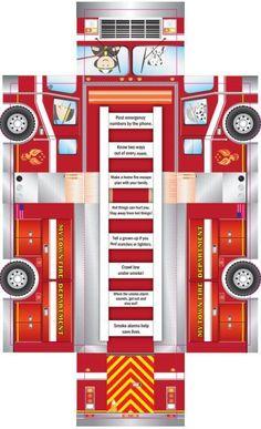 U.S. Fire Administration Free Printable Kids Firetruck Foldup Activity Sheet - Worldwide