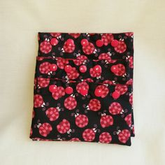 Ladybug reusable snack/sandwich bags - 3 piece set - eco friendly - snack pouch - polka dots - by Sewing4Babies on Etsy