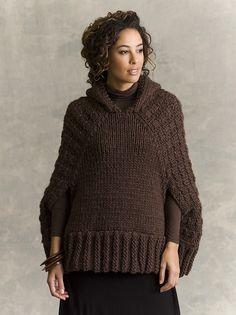 Ravelry: Hawthorne Hooded Poncho pattern by John Brinegar