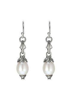 Scott Kay | Sterling Silver Pearl Drop Earrings    Designer Jewelry - Beyond the Rack | $359.99