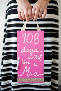 DIY -- Wedding Countdown Chalkboard Sign!