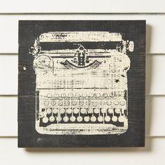 Found it at Wayfair - Typewriter Reclaimed Wood Wall Art