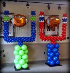 Seattle Seahawks & New England Patriots - Goal Post Balloon Columns