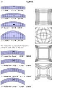 Sew, Steady, Westalee, Curves, Ruler, Templates, Choose, Size, Option, free, motion, quilting, no, long, arm