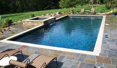 Rectangular Swimming Pool Designs And Plans Rectangular Pool Design Ideas Pictures Remodel And Decor Rectangle Pool Wisconsin Rectangle Pool Designs Rectangular Pool Designs And Shapes Rectangular Pool Spa, Swimming Pools Backyard, Pool Landscaping, 8 Pool, Inground Pool Designs, Swimming Pool Designs, Pool Coping, Jacuzzi, Parrilla Exterior