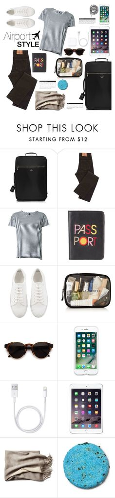 """""""Airport Style"""" by chakragoddess ❤ liked on Polyvore featuring Kate Spade, Nobody Denim, Lizzie Fortunato Jewels, RetroSuperFuture, Urbanears and BoConcept"""